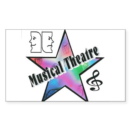 Musical Theatre Star Rectangle Sticker