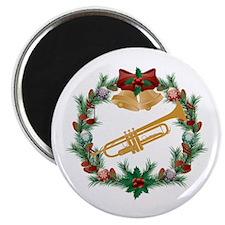 Christmas Trumpet Music Magnet