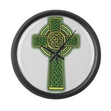 Celtic Cross Large Wall Clock
