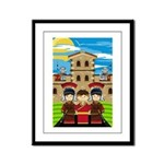 Cute Roman Soldier Framed Print (Small)