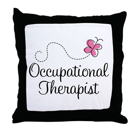 Cute Occupational Therapist Throw Pillow