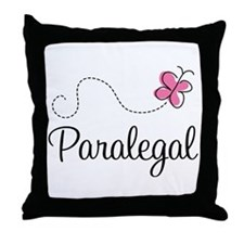 Cute Paralegal Throw Pillow