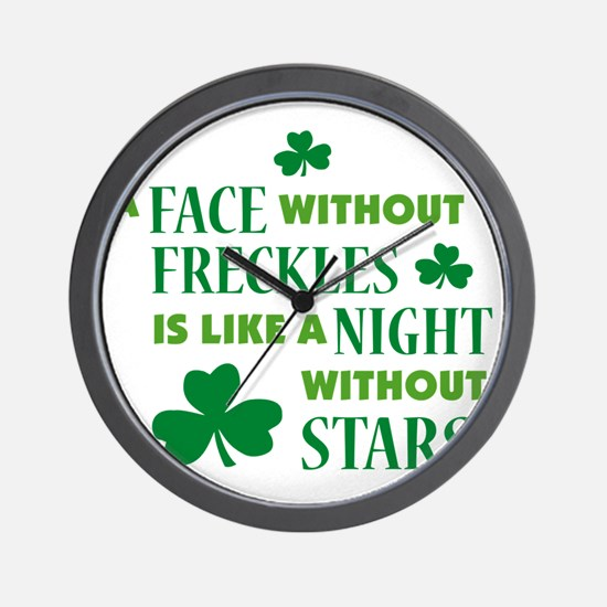 A face without freckles is li Wall Clock