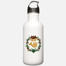Christmas French Horn Sports Water Bottle