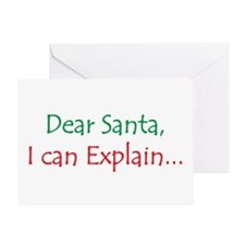 Dear Santa, I Can Explain... Greeting Card