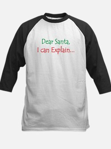 Dear Santa, I Can Explain... Kids Baseball Jersey