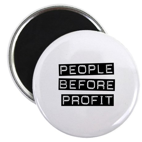 """People Before Profit 2.25"""" Magnet (10 pack)"""