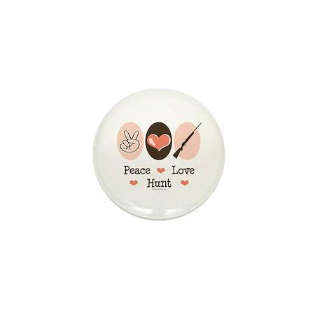 Peace Love Hunt Mini Button