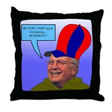 duck cheney Throw Pillow
