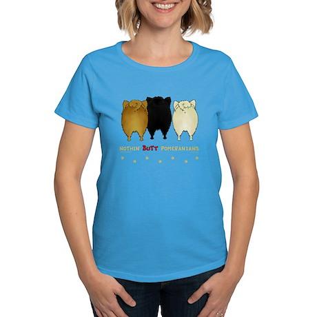 Nothing Butt Pomeranians Women's Dark T-Shirt