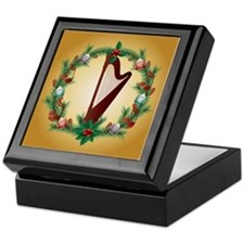 Christmas Harp Music Keepsake Box