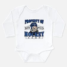 Big Kid Hockey Blue Long Sleeve Infant Bodysuit