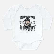 Big Kid Hockey Black Long Sleeve Infant Bodysuit