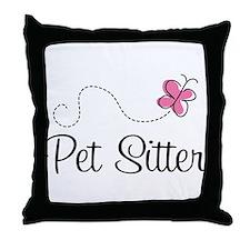 Cute Pet Sitter Throw Pillow