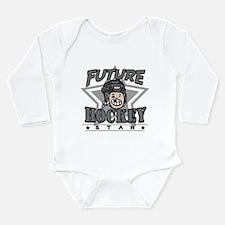 Future Hockey Black Long Sleeve Infant Bodysuit