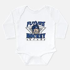 Future Hockey Blue Long Sleeve Infant Bodysuit