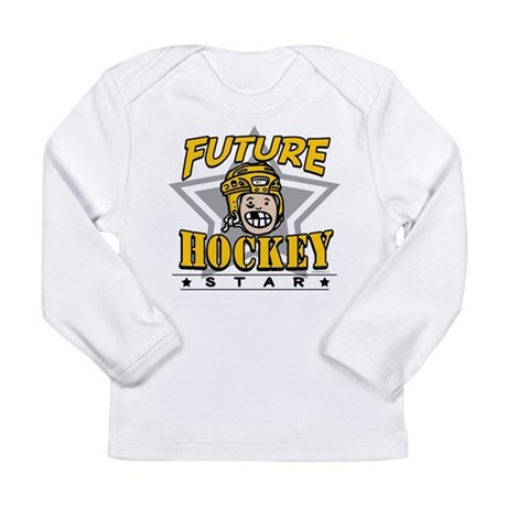 Future Hockey Star Yellow Long Sleeve Infant T-Shi