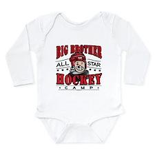 Big Brother Hockey Red Long Sleeve Infant Bodysuit