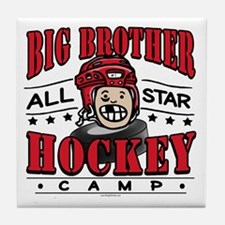 Big Brother Hockey Red Tile Coaster
