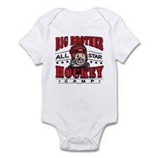 Big Brother Hockey Red Infant Bodysuit