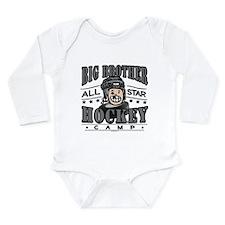 Big Brother Hockey Black Long Sleeve Infant Bodysu
