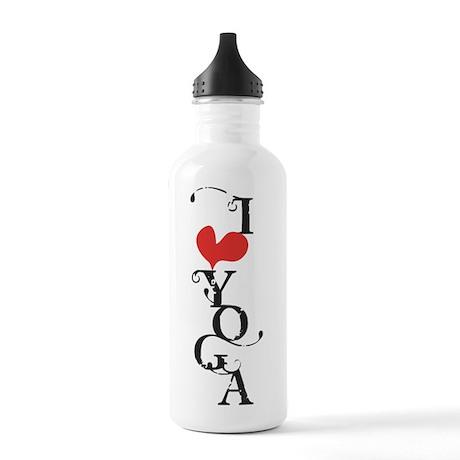 I heart YOGA Stainless Water Bottle 1.0L