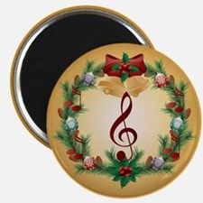 Treble Christmas Music Magnet