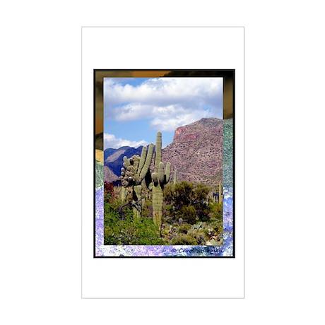 Desert Scene Sticker (Rectangle)