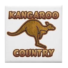 Kangaroo Country Logo Tile Coaster