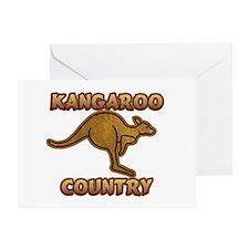 Kangaroo Country Logo Greeting Card