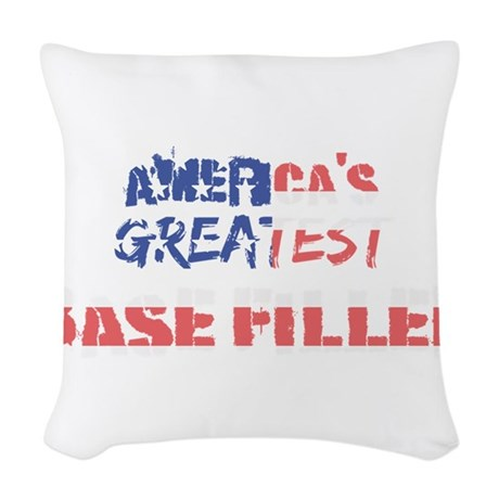 America's Greatest Base Filler Woven Throw Pillow
