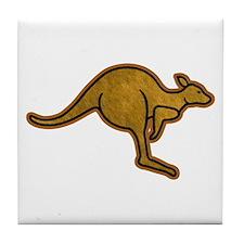 Kangaroo Logo Tile Coaster