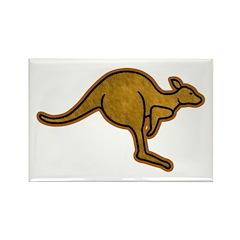 Kangaroo Logo Rectangle Magnet (10 pack)
