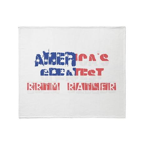America's Greatest Brim Raiser Throw Blanket