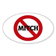 Anti-Mitch Oval Decal