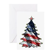 Patriotic Christmas Greeting Card