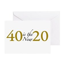 40 is the new 20 (Cougar) Greeting Card