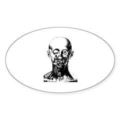Bougery Face Sketch Sticker (Oval)