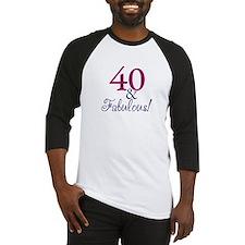 40 and Fabulous Baseball Jersey