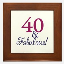40 and Fabulous Framed Tile