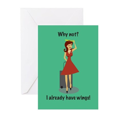 Merry Christmas Stew Angel Greeting Cards (Pk of 1