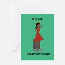 Merry Christmas Stew Angel Greeting Cards (Pk of 2