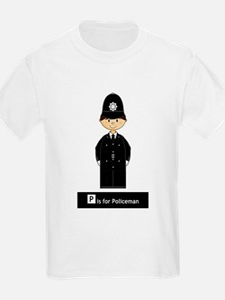 Cute British Policeman Kids T-Shirt