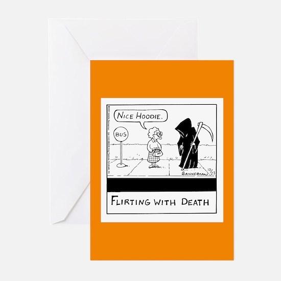 Flirting With Death Greeting Card