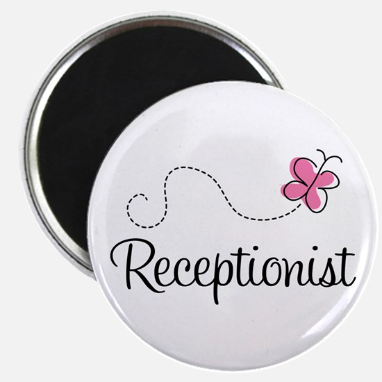 Cute Receptionist Magnet