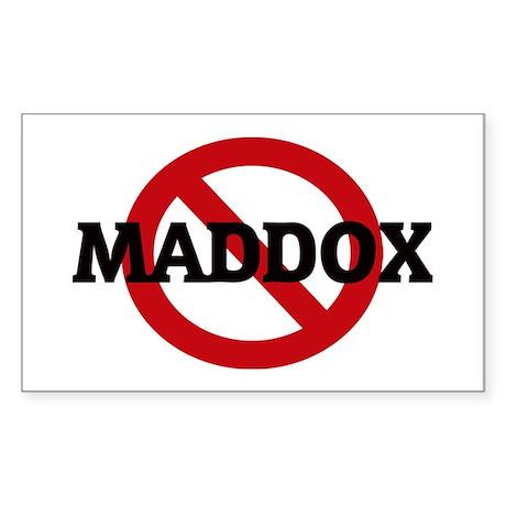 Anti-Maddox Rectangle Sticker