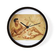 Male Hawaiian Ukulele Player Wall Clock