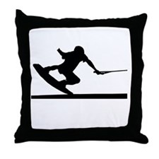 Cute Wakeboarding Throw Pillow