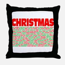 Christmas Words Throw Pillow