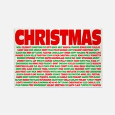 Christmas Words Rectangle Magnet